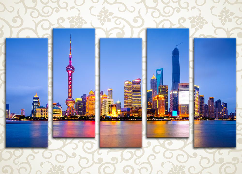 Модульная картина Ночной Шанхай (Китай)