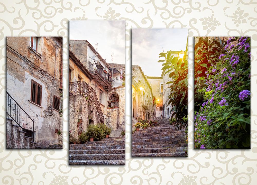 Модульная картина Улица старого города. Скалея (Италия)