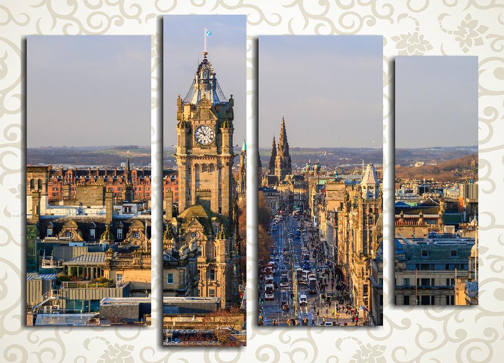 Модульная картина Старый Эдинбург. Шотландия