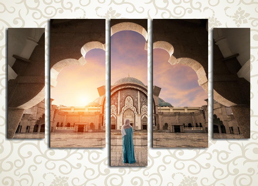 Модульная картина Мусульманка