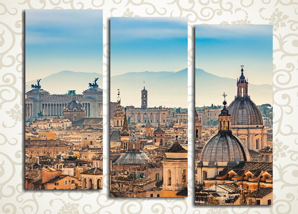Модульная картина Рим с высоты птичьего полета. Италия