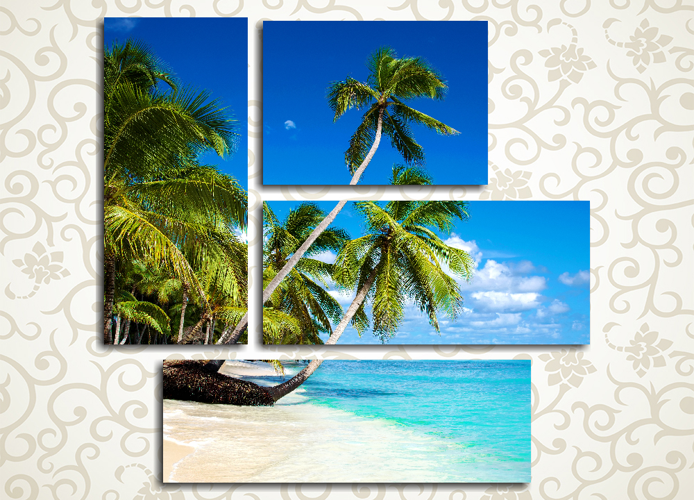 Модульная картина Пальмы у океана