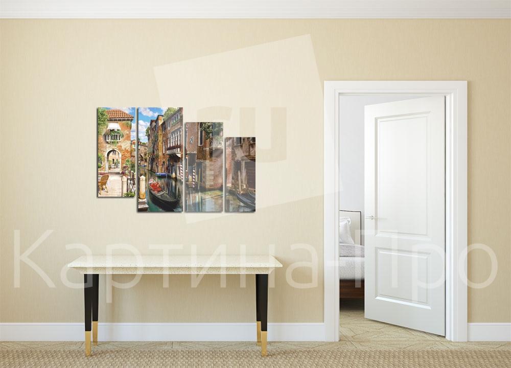 Модульная картина Гондола на канале Венеции. Италия от Kartina-Pro
