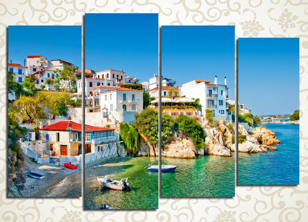 Модульная картина Солнечный берег Греции