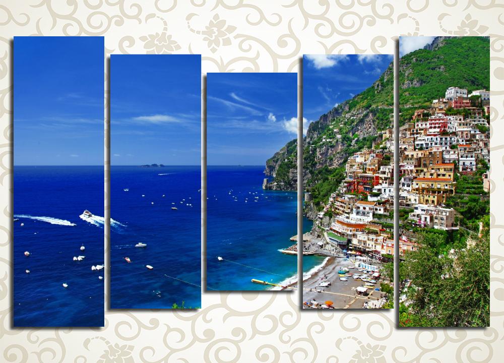 Модульная картина Красочный берег Италии