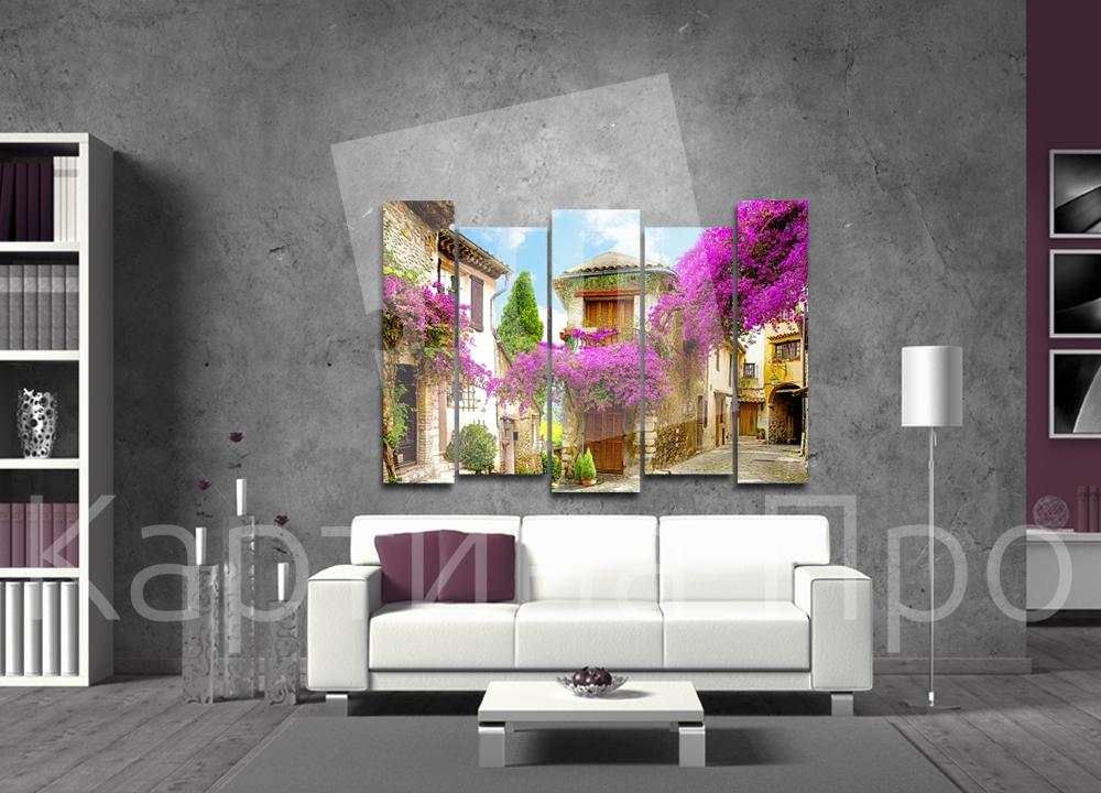 Модульная картина Дворик Прованса от Kartina-Pro