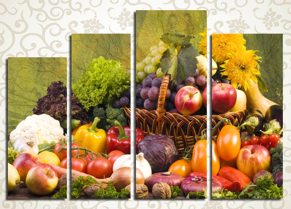 Модульная картина Плодородный урожай<br>