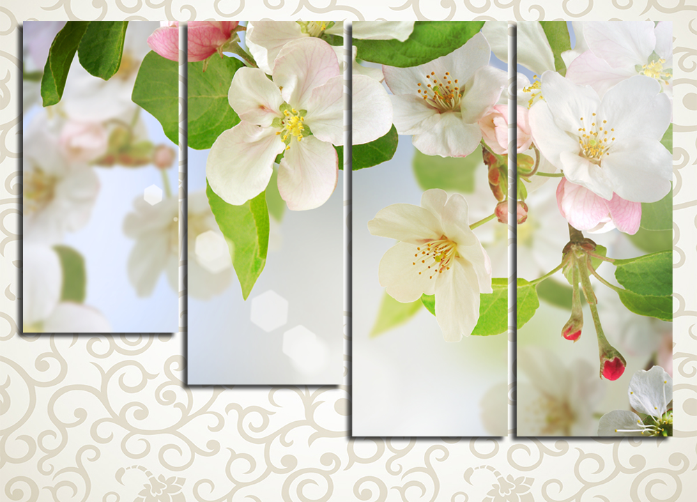 Модульная картина Яблоневый цвет