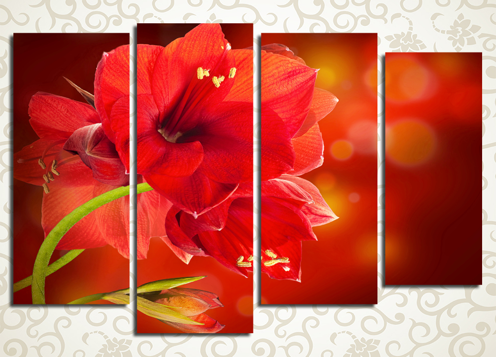 Модульная картина Аленький цветочек