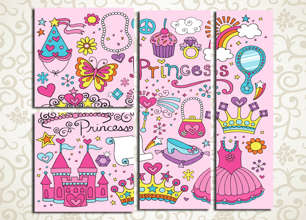 Модульная картина Всё для принцессы<br>