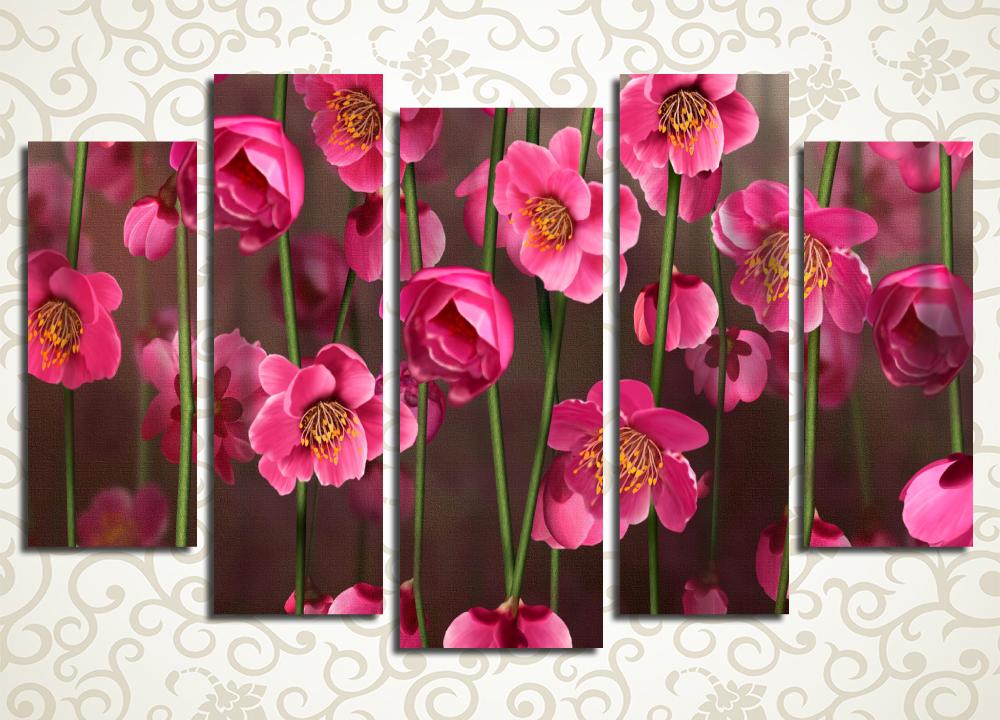 Модульная картина Заросли розовых орхидей