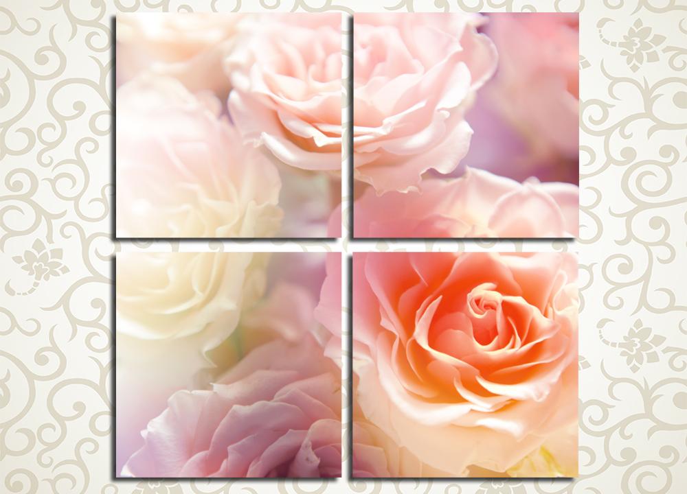 Модульная картина Нежные розы