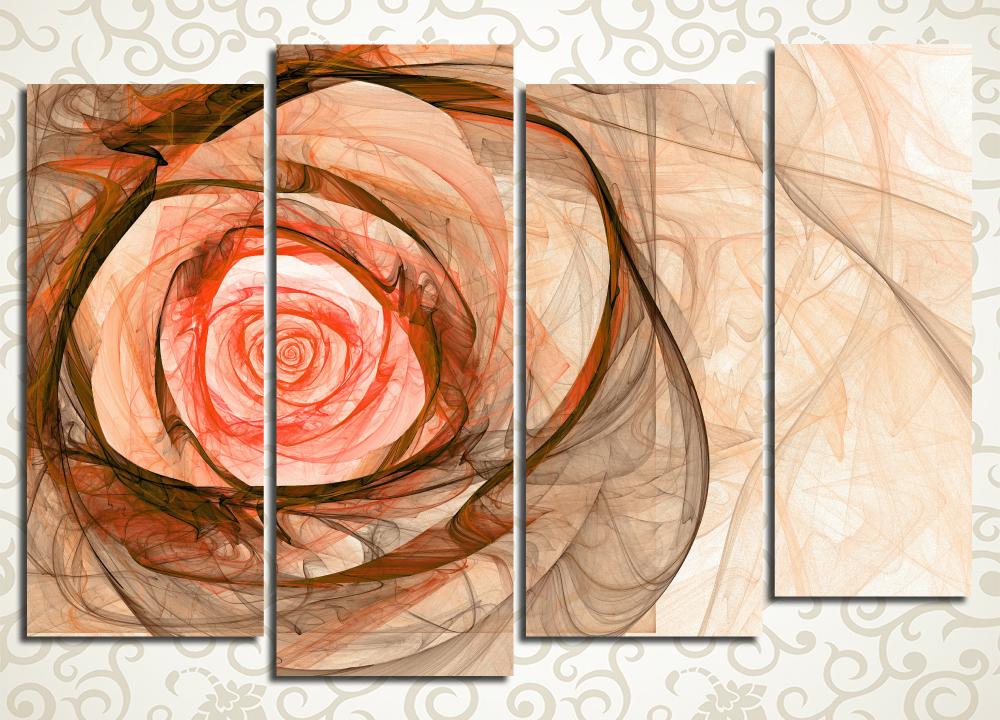 Модульная картина Абстрактный бутон розы