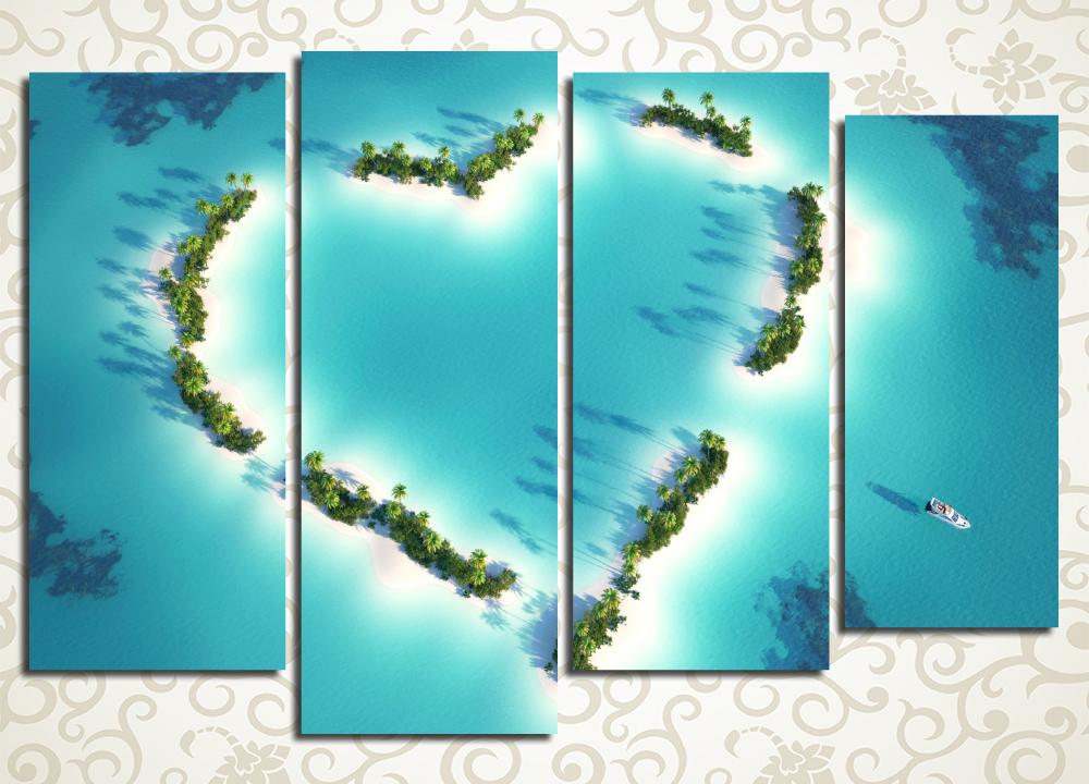 Модульная картина Острова в океане<br>