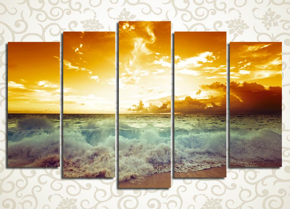 Модульная картина Закат над Красным морем