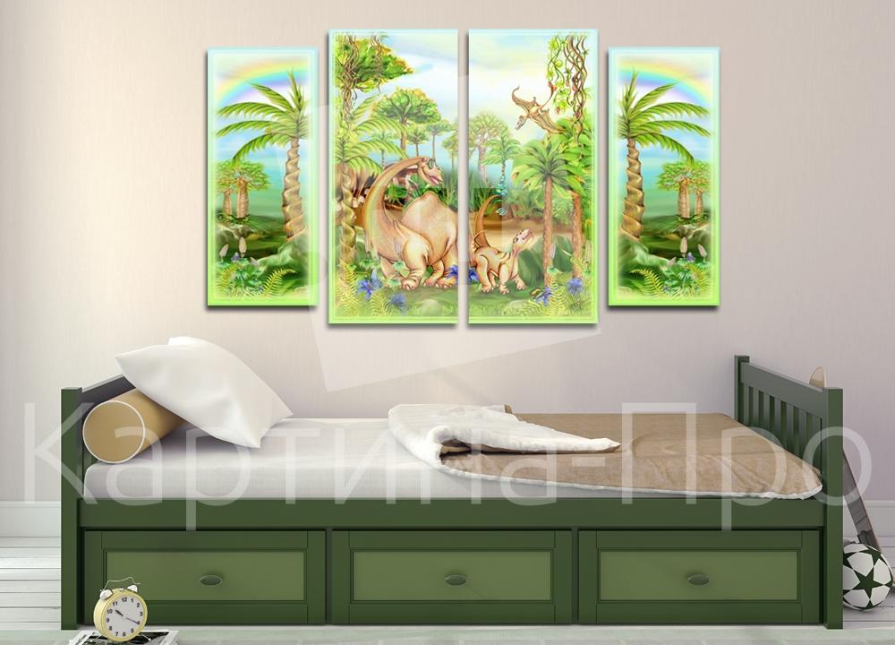 Модульная картина Динозавры от Kartina-Pro