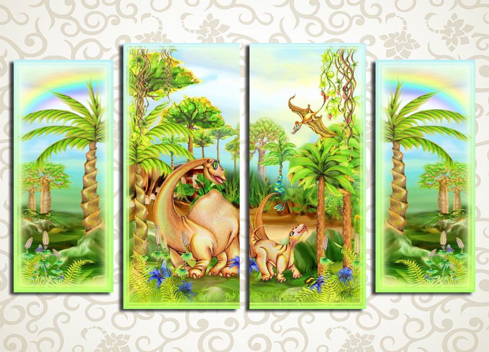 Модульная картина Динозавры<br>