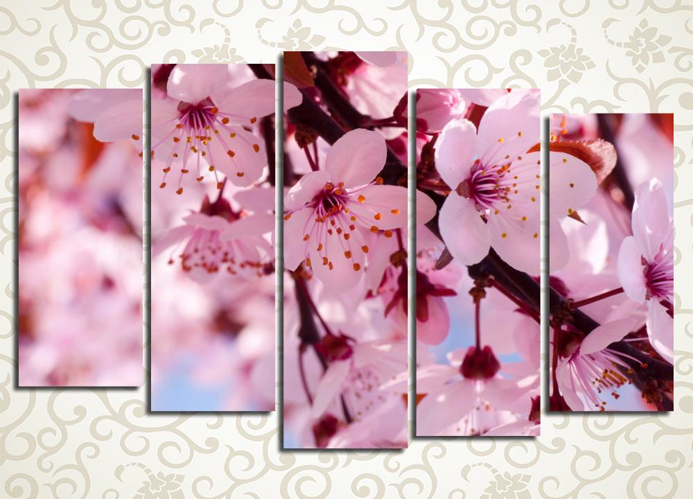 Модульная картина Яблони в цвету