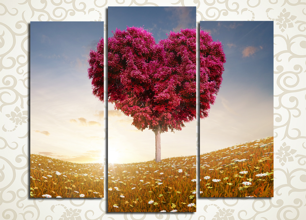 Модульная картина Романтичное дерево