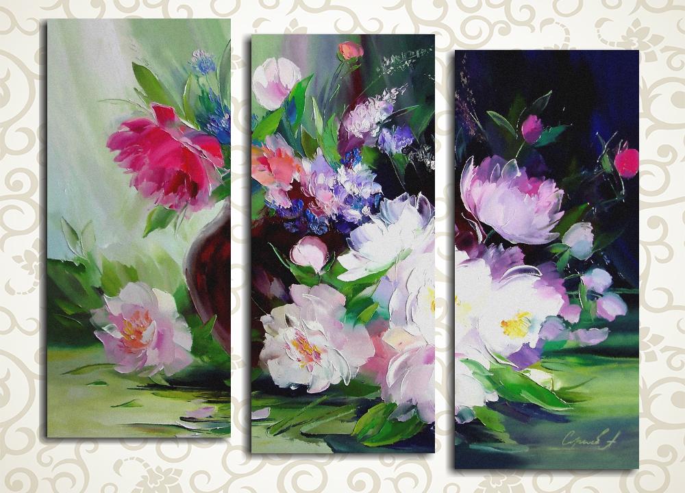 Модульная картина Нежный букет цветов