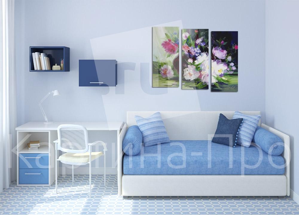 Модульная картина Нежный букет цветов от Kartina-Pro