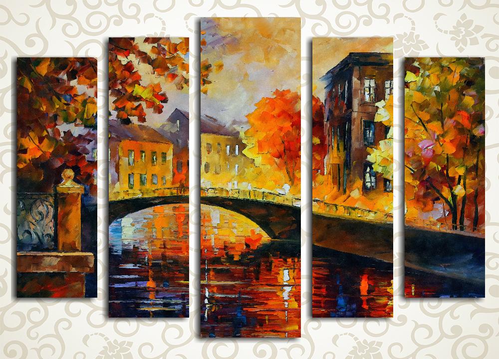 Модульная картина Осенний город