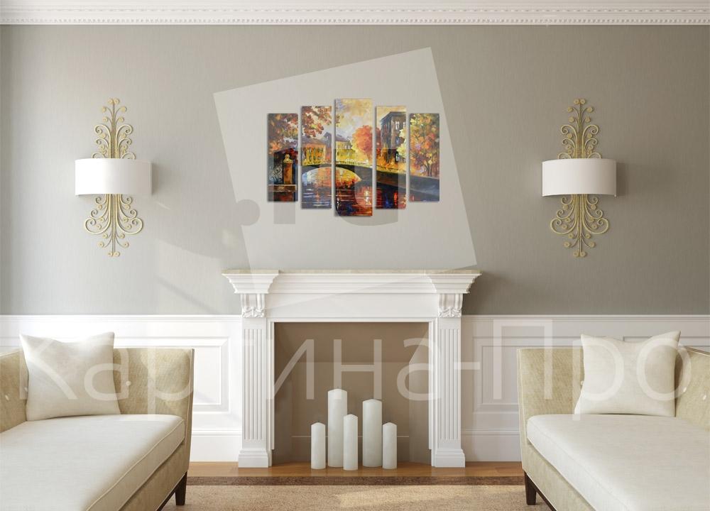 Модульная картина Осенний город от Kartina-Pro