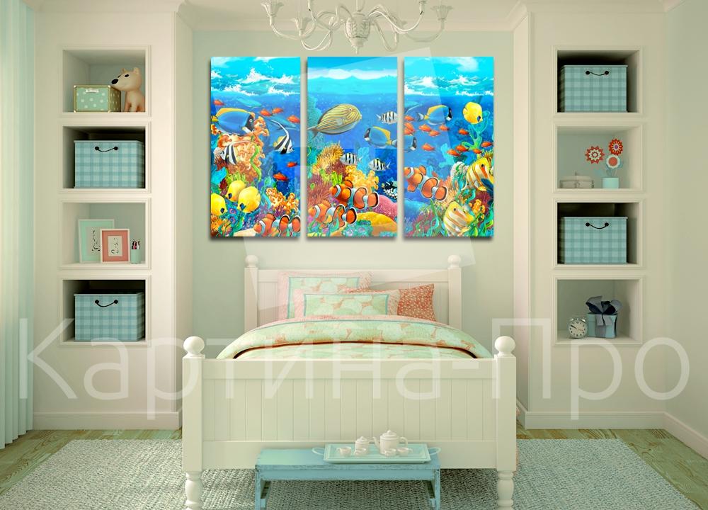 Модульная картина Подводный мир от Kartina-Pro