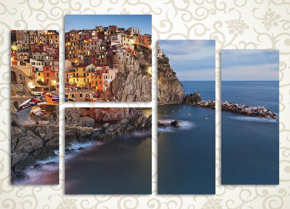 Модульная картина Итальянский городок<br>