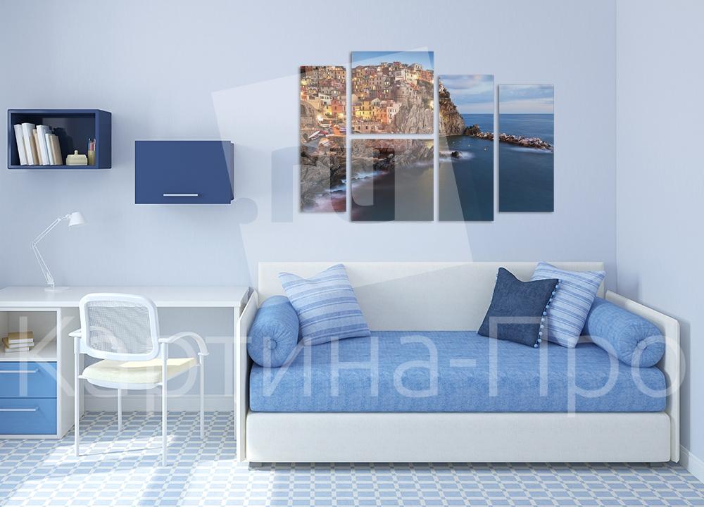 Модульная картина Итальянский городок от Kartina-Pro