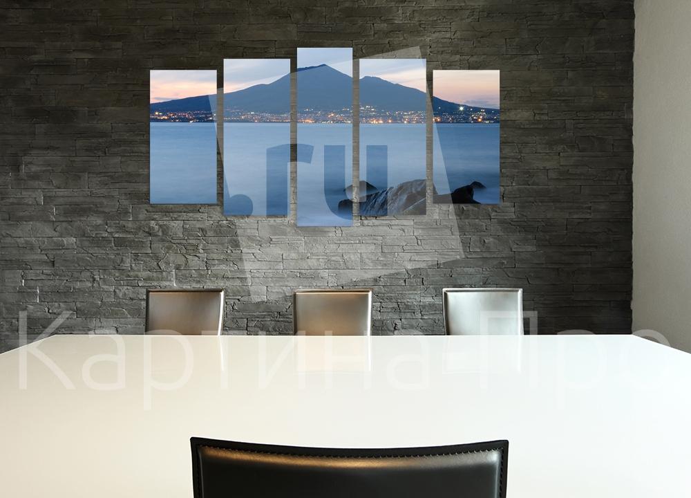 Модульная картина Мощь Везувия. Неаполь (Италия) от Kartina-Pro