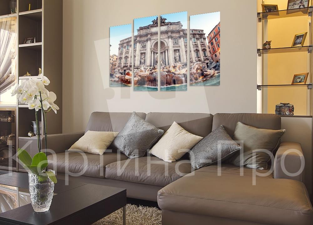 Модульная картина Фонтан Треви. Рим (Италия) от Kartina-Pro