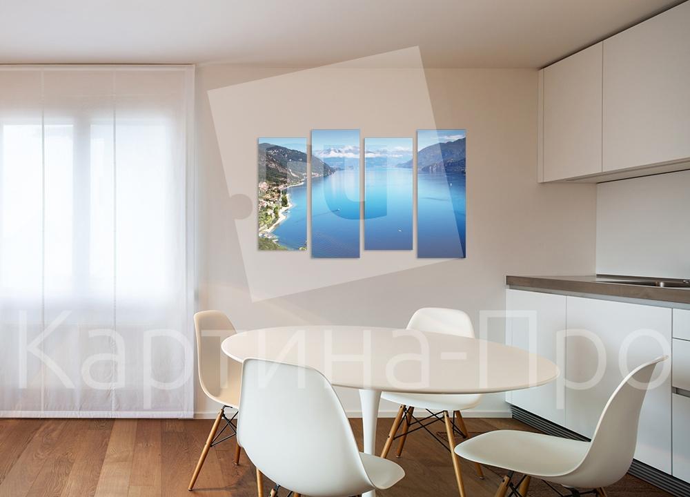 Модульная картина Великолепие озера Комо (Италия) от Kartina-Pro