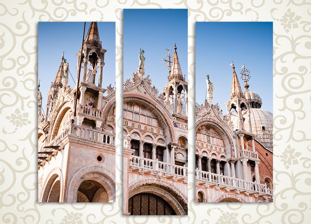 Модульная картина Собор Святого Марка. Венеция (Италия)<br>