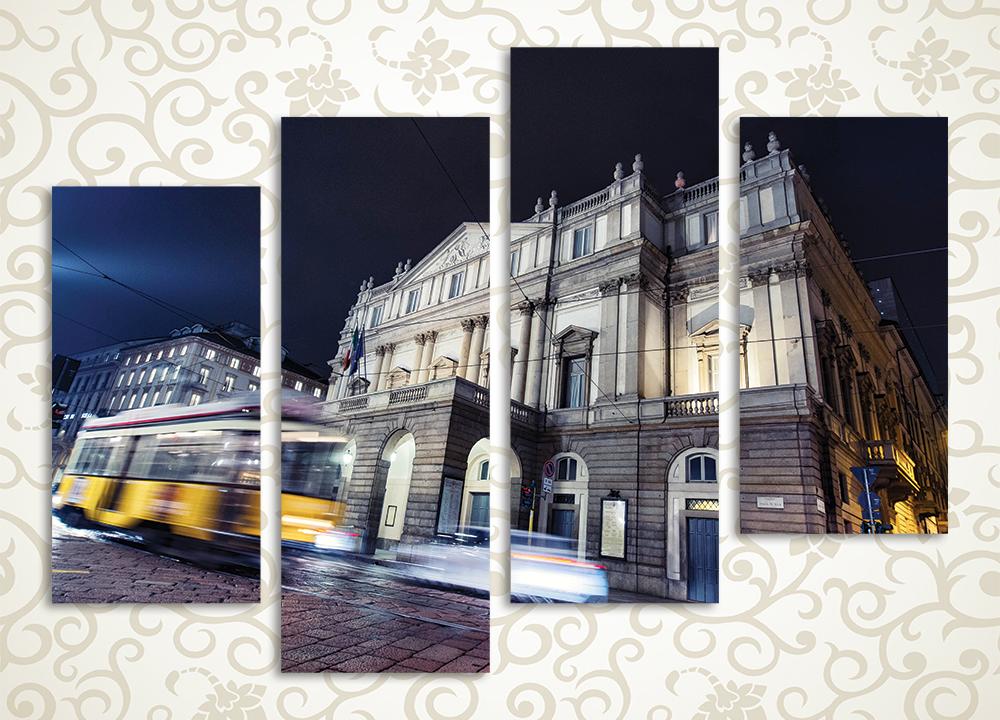 Модульная картина Оперный театр в Милане (Италия) от Kartina-Pro