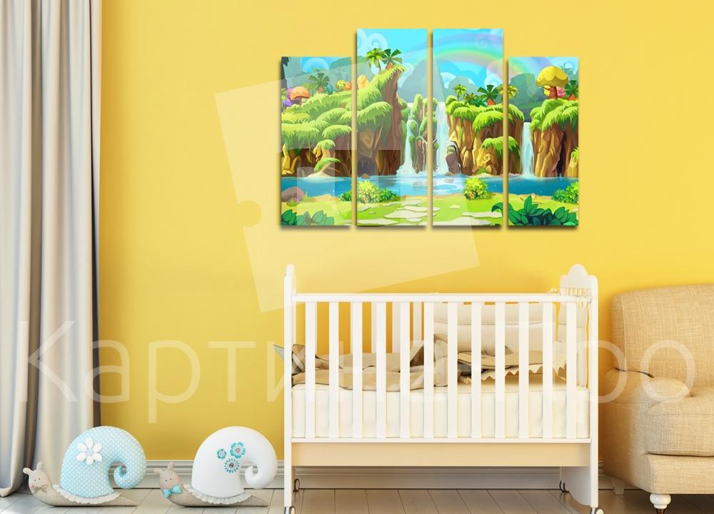 Модульная картина Пейзаж с водопадом от Kartina-Pro