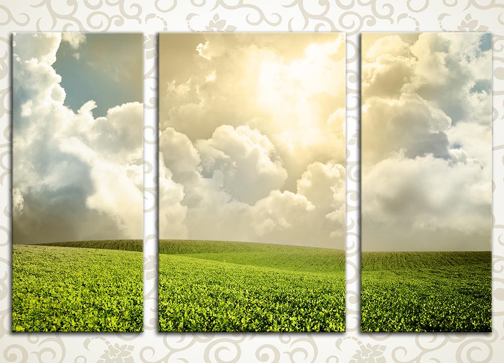 Модульная картина Сквозь облака