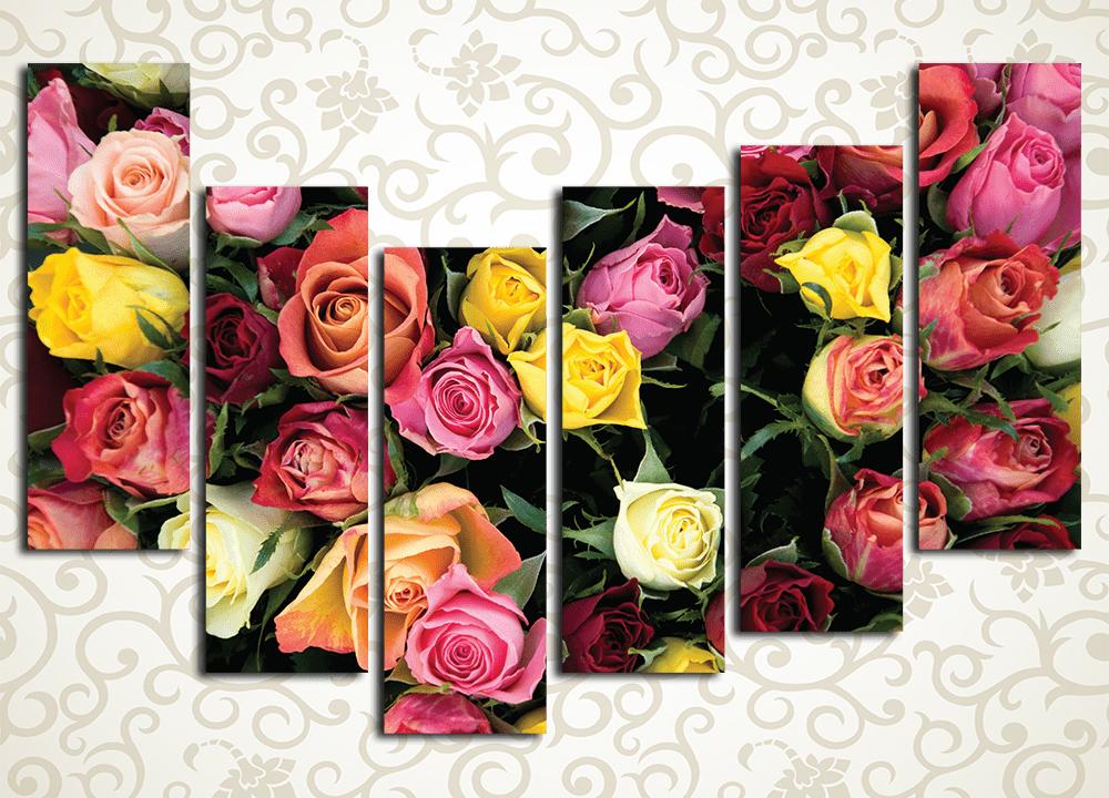 Модульная картина Фейерверк из роз