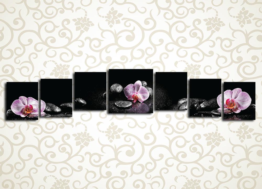 Модульная картина Орхидеи на камнях