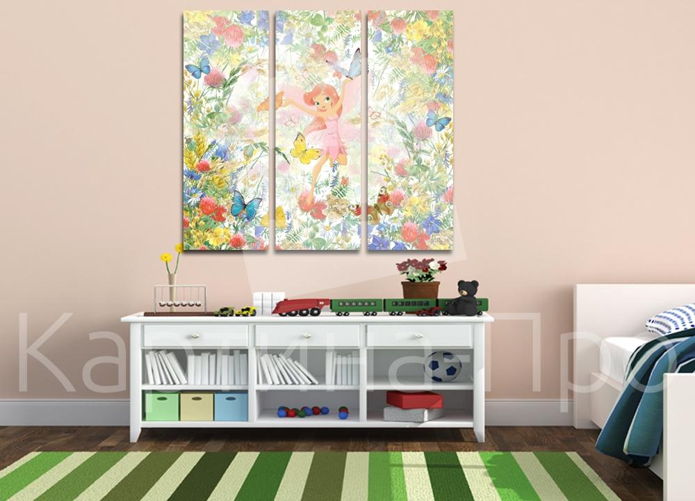 Модульная картина Цветочная фея от Kartina-Pro