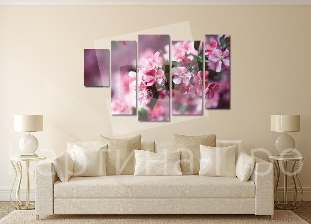 Модульная картина Яблоня в цвету от Kartina-Pro