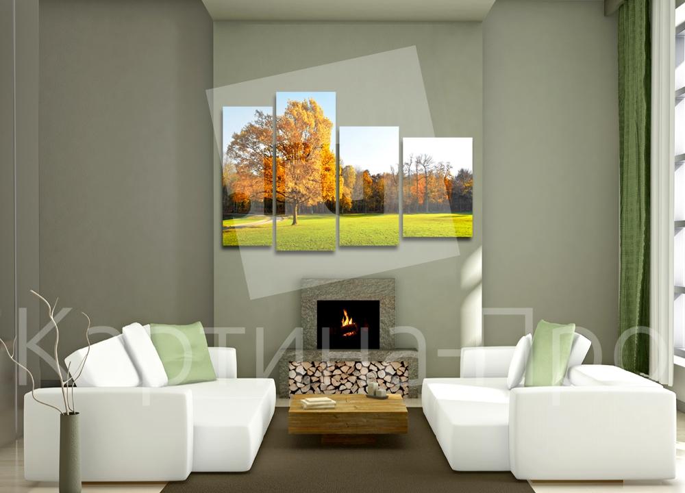 Модульная картина Рассвет над осенним лесом от Kartina-Pro