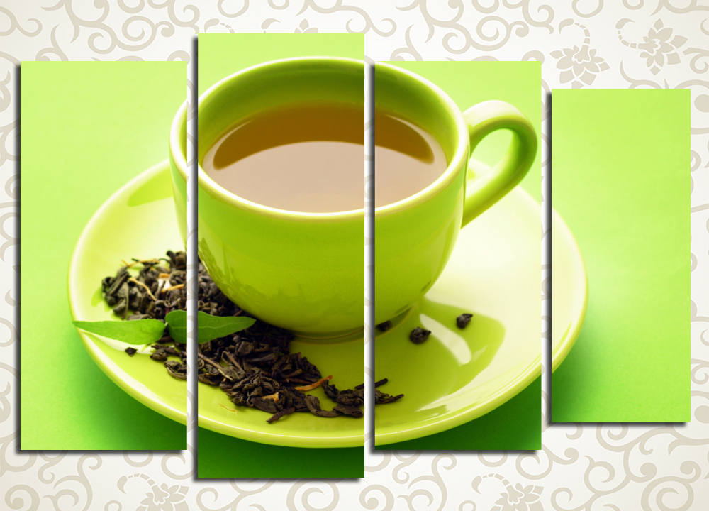 Модульная картина Чашка ароматного чая