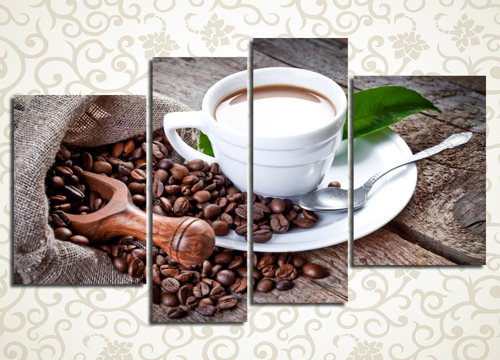 Модульная картина Горячий кофе с молоком
