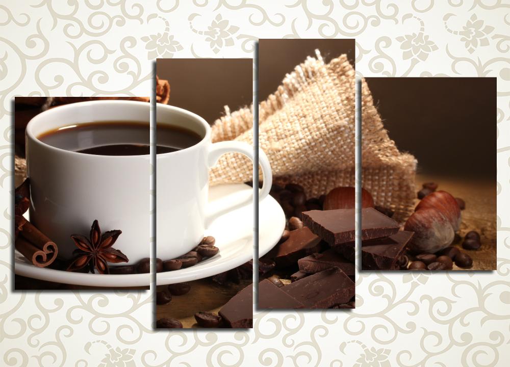 Модульная картина Кофе с корицей<br>