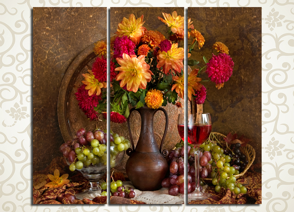 Модульная картина Виноградное вино