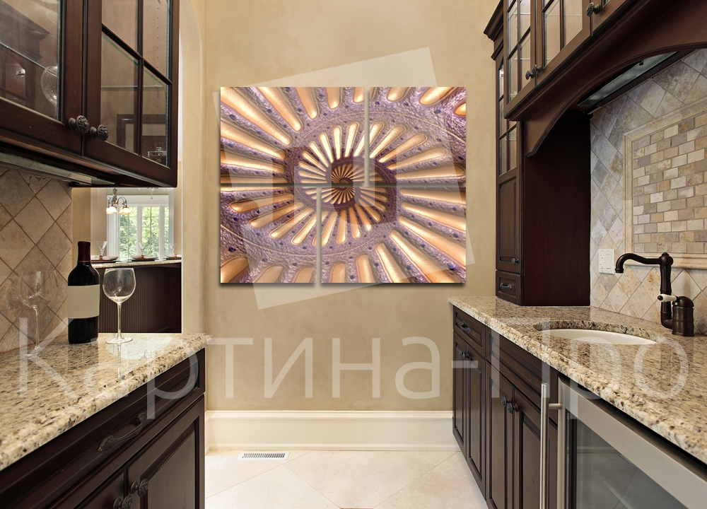 Модульная картина Загадочная спираль от Kartina-Pro