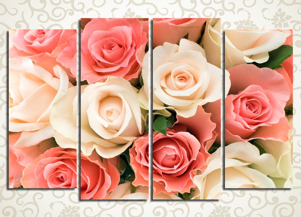 Модульная картина Великолепные бутоны роз