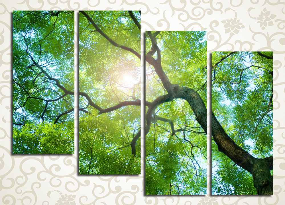 Модульная картина Дерево на фоне неба