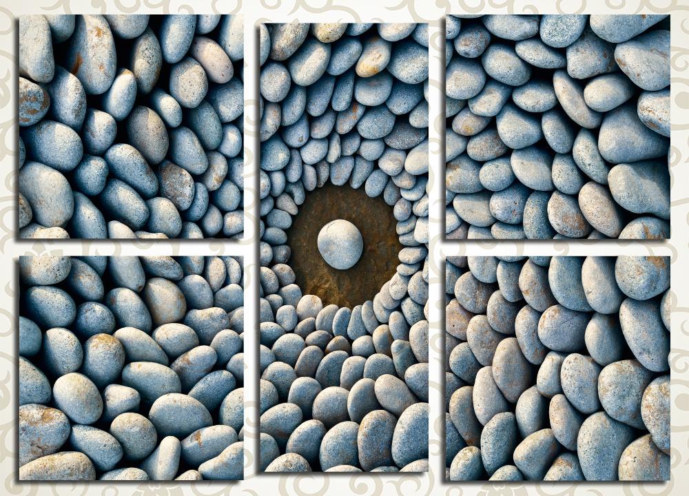 Модульная картина Панно из морской гальки